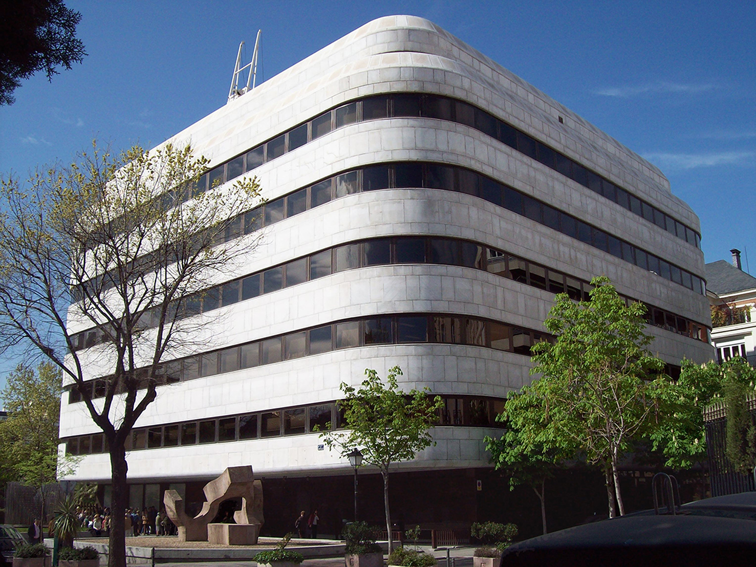 Headquarters of the Juan March Foundation, at 77 Calle de Castello (street) in Salamanca district in Madrid (Spain). Building from 1975.