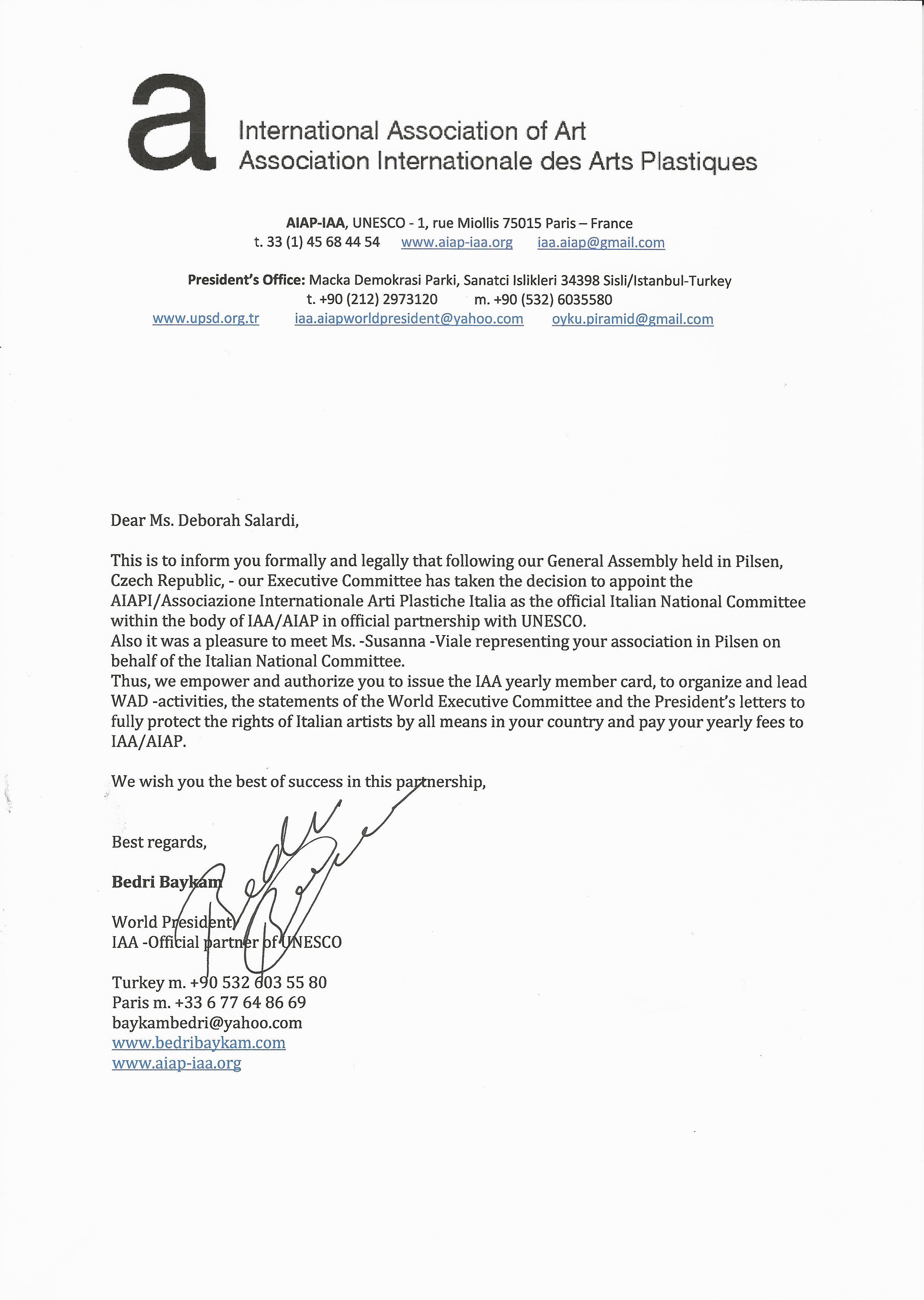 Nomina Ufficiale AIAPI